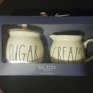 Rae Dunn cream & sugar set